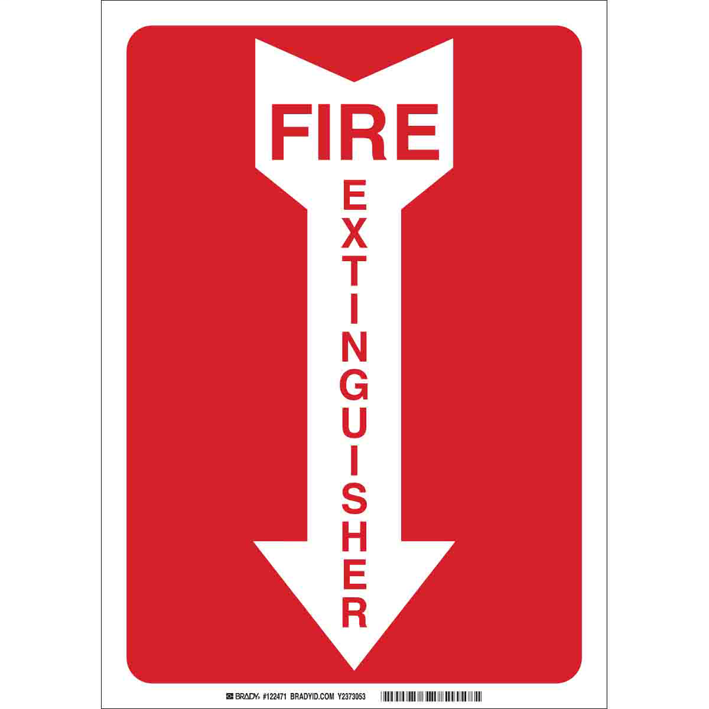 Brady 25718 Fire Sign