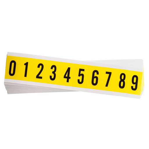 """Mayer-3430 Series Repositionable Number and Letter Labels, 0 to 9, 1.5"""" H x 0.875"""" W x 0.0073"""" D-1"""