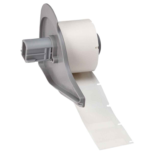 """Mayer-BMP71 Self-Laminating Vinyl Wire and Cable Labels, 1"""" H x 1"""" W, Roll of 250 Labels, Clear/White-1"""