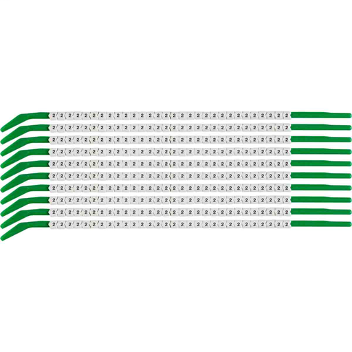 """Mayer-ClipSleeve 2 Wire Markers, Pack of 10 Each, 18 AWG, Maximum Wire Dia, 0.11""""-1"""