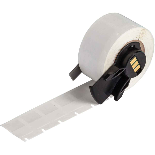 """Mayer-BMP61 M611 TLS 2200 Self-Laminating Vinyl Wire and Cable Labels, 0.75"""" H x 0.5"""" W, Roll of 500 Labels, Clear/White-1"""