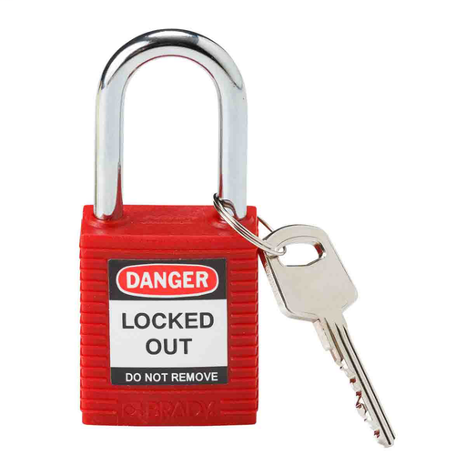 Mayer-Brady® Nonconductive Nylon Padlock - 6-Pin Cylinder, 1.5 in. Shackle Clearance-1