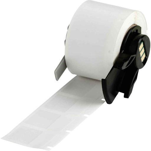 """Mayer-BMP61 M611 TLS 2200 Self-Laminating Vinyl Wire and Cable Labels, 1"""" H x 0.75"""" W, Roll of 250 Labels, Clear/White-1"""
