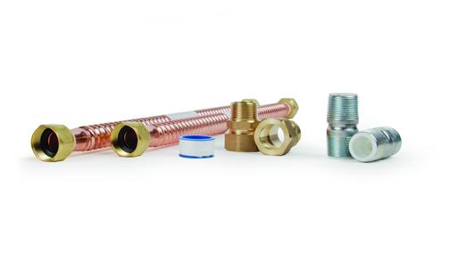 "Connector Kit - 18"" x 3/4"" Gas/Elec, Copper (CLAM)"