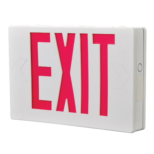 Mayer-Self Powered, Unv. Green - APX LED Exit Signage - White-1