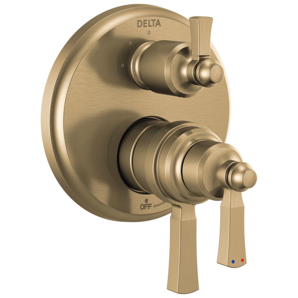 DELTA® T27T856-CZ Monitor® 17T Traditional Valve Trim With 3-Setting Diverter, 7.2 gpm Valve, Brilliance® Champagne Bronze