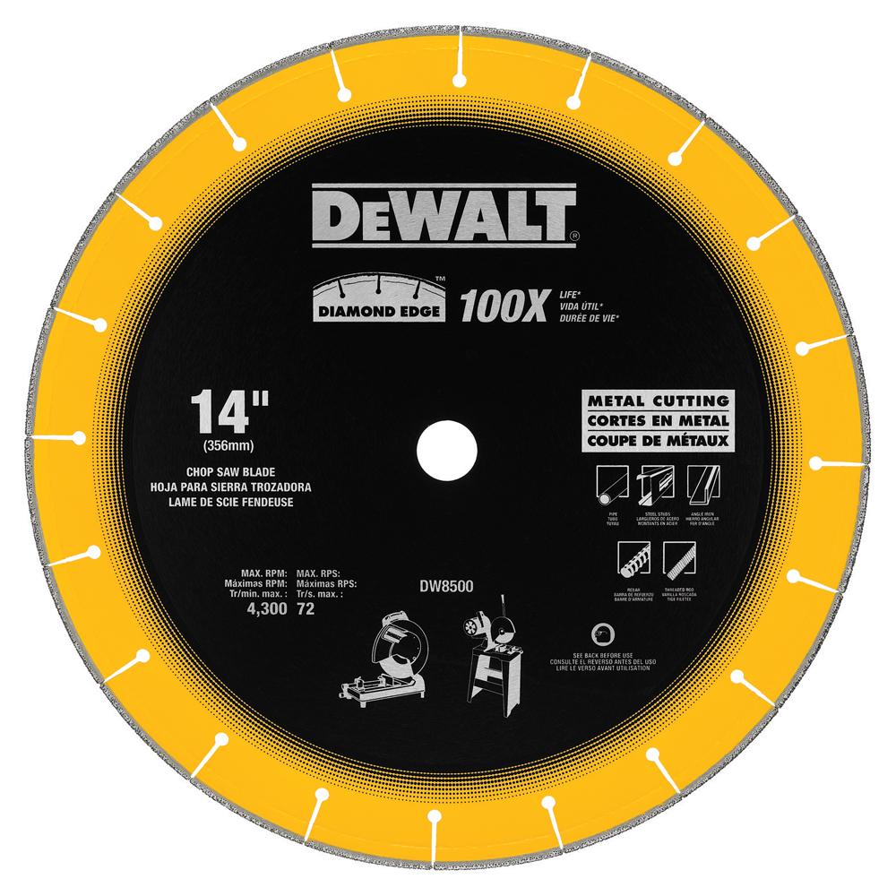 DEWALT DW8500 14 Inch Diameter 3/32 Inch Edge Thickness 4300 RPM Chop Saw Blade