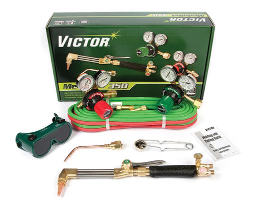 Victor®Model G350 Medalist® Medium - Heavy Duty Acetylene Cutting/Welding Outfit CGA-540/CGA-510 With CA411-1