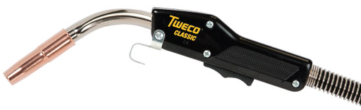 """Tweco® 200 Amp Classic® No. 2 .030"""" - .035"""" Air Cooled Professional MIG Gun - 15' Cable/Miller® Style Connector"""