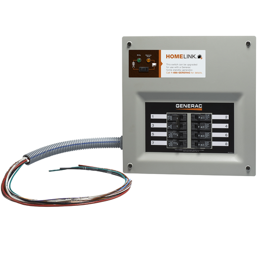 HomeLink Upgradeable 30 Amp Manual Transfer Switch