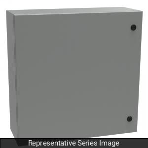 Hammond Manufacturing EN4SD24248GY 24 x 8 x 24 Inch NEMA 4/12 Gray 16/14 Gauge Steel 1-Door Enclosure