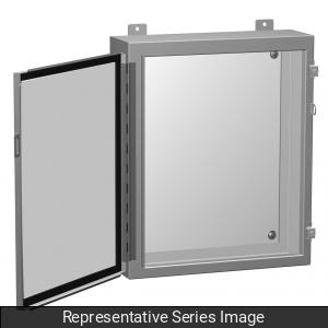 Hammond Manufacturing 1418CA6 12 x 6 x 20 Inch NEMA 12/13 Gray 14 Gauge Steel 1-Door Enclosure