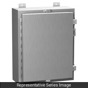 N4X Wallmount Encl w/panel -24x24x8-Alum