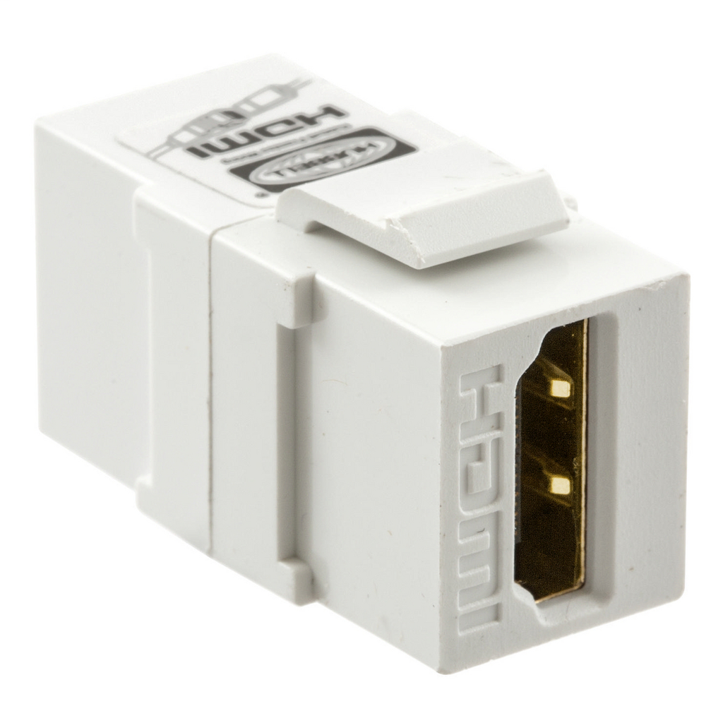 HUBBELL WIRING DEVICES Snap-Fit, Keystone, HDMI, 1.4A, A to A, Light Almond