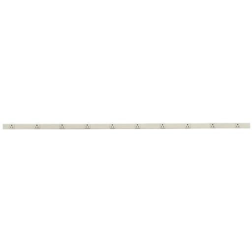 Mayer-Metal PlugTrak, 15A 1 Circuit, 10 Receptacle, 6' Length, Ivory-1