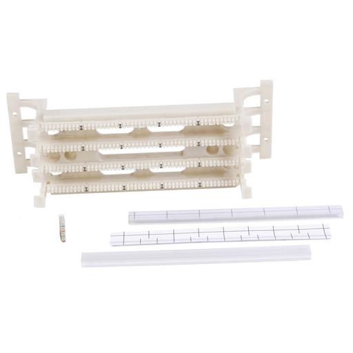 Mayer-110 System, Field Termination Kit, 4 Pair Connectors, 100 Pair, Black-1