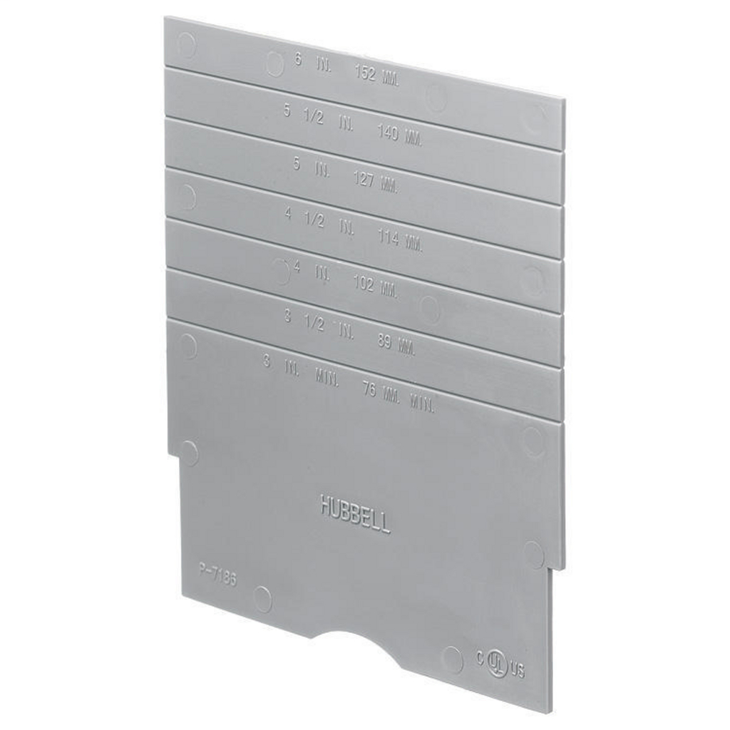Hubbell Wiring Devices S1DIV1 Concrete Floor Box Fire Rated Poke-Through Device Divider Plate