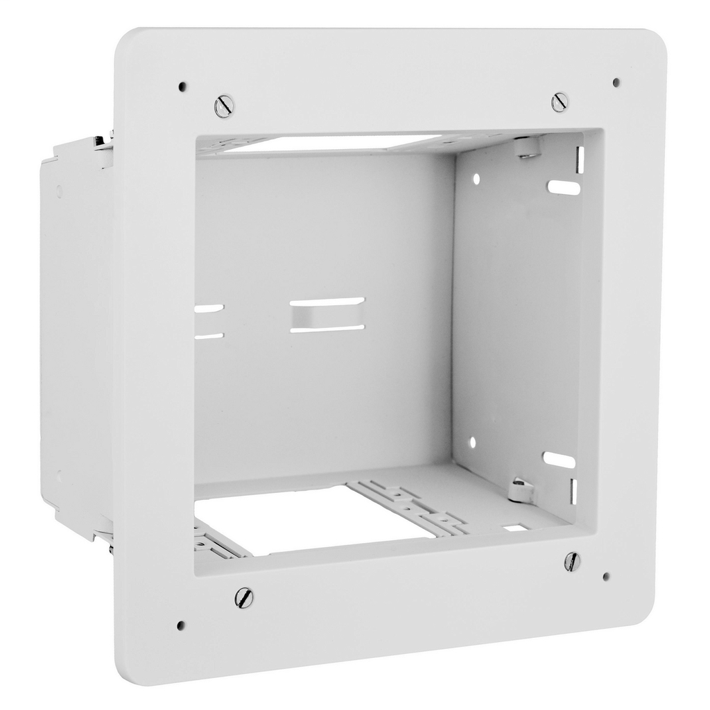 HUBBELL WIRING DEVICES FPTV Enclosure, 2-Gang, White