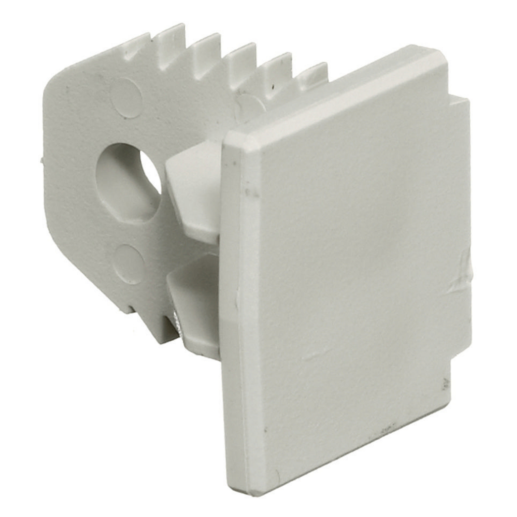 HUBBELL PP1EC WHT END CAP FITTING