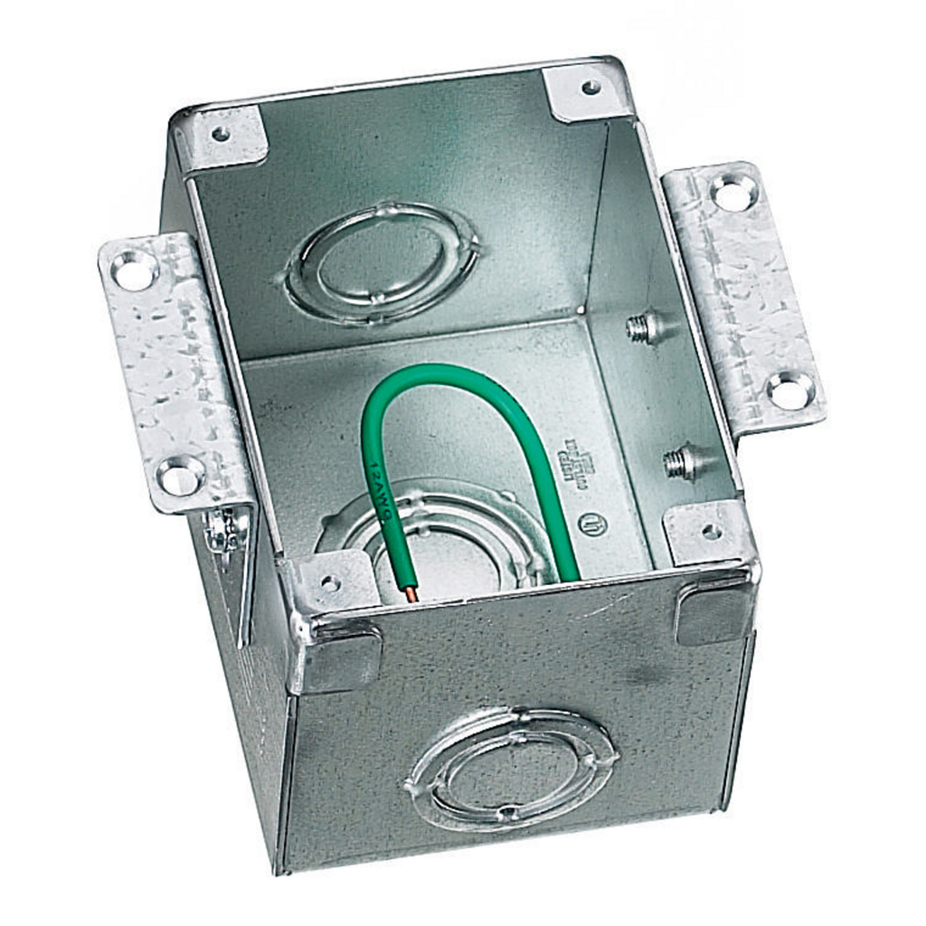 HUBBELL WIRING DEVICES Floor and Wall Boxes, Flush Concrete Floor Box Series, 1-Gang, Rectangular, Steel, Wood Floor Installation, Semi Adjustable