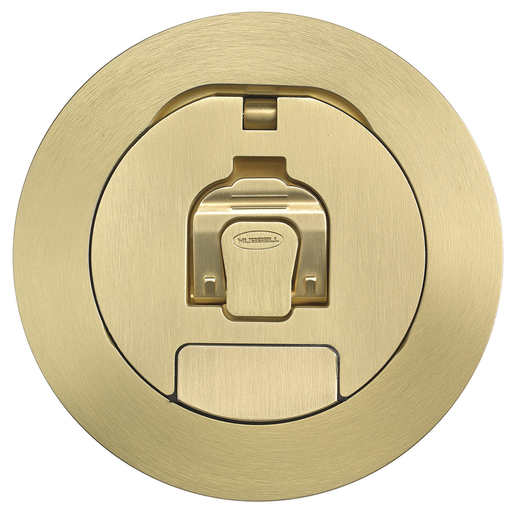 Hubbell Wiring Devices S1R4CVRBRS Brass Plated Cover