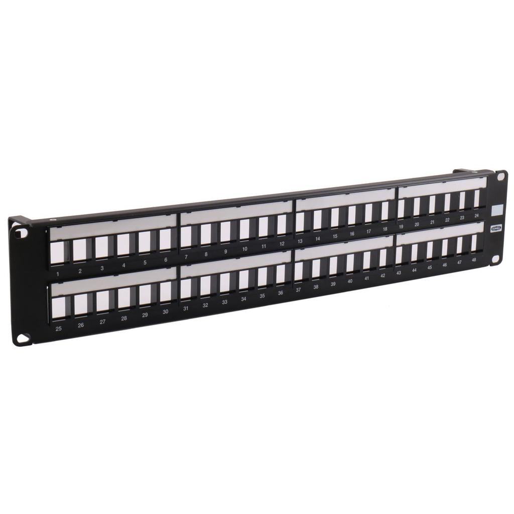 """Mayer-Patch Panel, Jack, Unloaded, 48-Port,19"""" W X 3.50"""" H-1"""