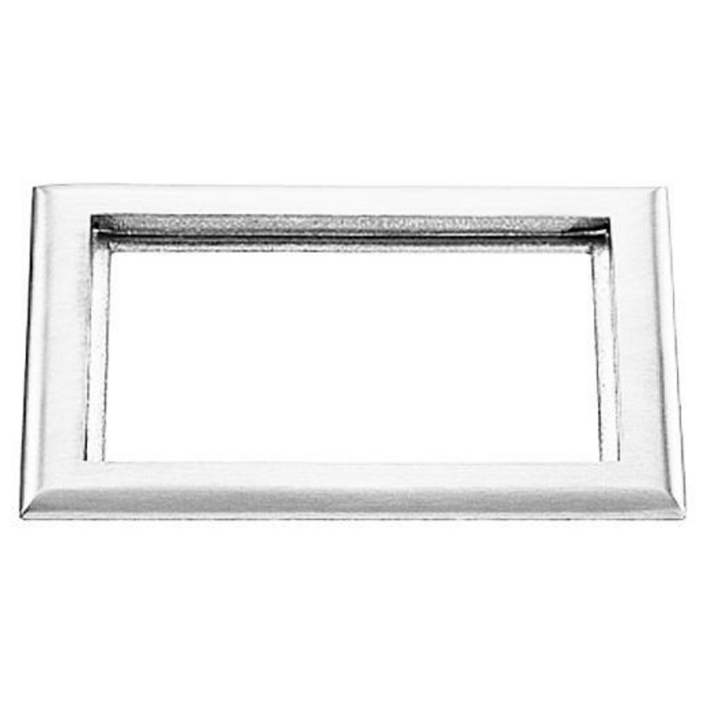 Hubbell Wiring Devices S3084 2-Gang 6 x 8.13 Inch Clear Polycarbonate Rectangular Floor Box Carpet Flange