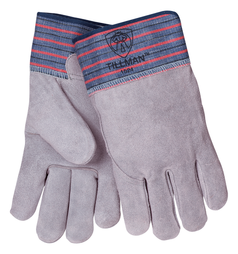Work - Gloves - Cowhide/Canvas - Length 11.5 in, Width 6 in, Height 1 in