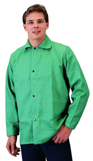 FR Cotton Welding Jacket - Cotton - Clothing - Flame Retardant FR7A® - Length 12.5 in, Width 11 in, Height 1 in