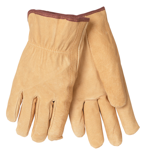 Driver - Gloves - Pigskin - Length 10 in, Width 6 in, Height 0.5 in
