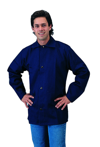 FR Cotton Welding Jacket - Cotton - Clothing - Flame Retardant FR7A® - Length 13 in, Width 12 in, Height 1 in