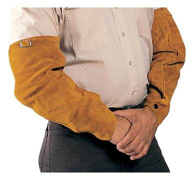 Sleeves - Leather - Clothing - Cowhide - Length 7 in, Width 8 in, Height 1.5 in