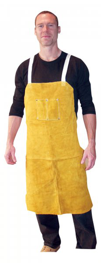 Leather Apron - Leather - Clothing - Cowhide - Length 13 in, Width 5.5 in, Height 2 in