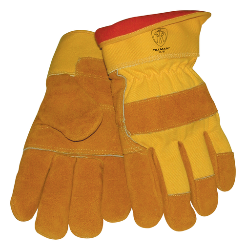 Winter Glove - Gloves - Cowhide/Canvas - Length 11.5 in, Width 6 in, Height 1 in
