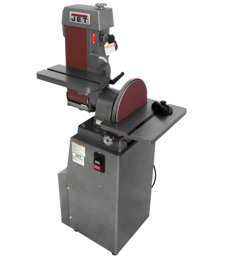 """J-4200A, 6"""" x 48"""" Industrial Combination Belt and 12"""" Disc Finishing Machine 115V 1Ph"""
