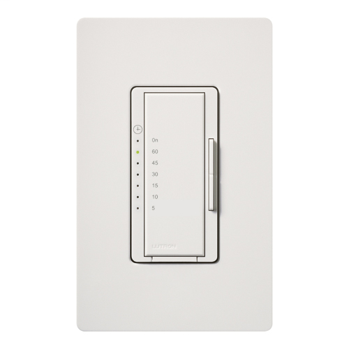 Lutron Electronics MA-T51-WH 120 VAC 5 Amp 1-Pole White Countdown Timer Control Switch