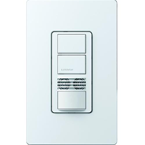 Lutron Electronics MS-A202-WH 120 to 277 VAC 6 Amp 1-Pole White Dual Technology Occupancy Sensor Switch