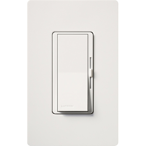 Lutron Electronics DVW-600PH-WH 600 W 120 Volt White 1-Pole Incandescent/Halogen Wall Dimmer
