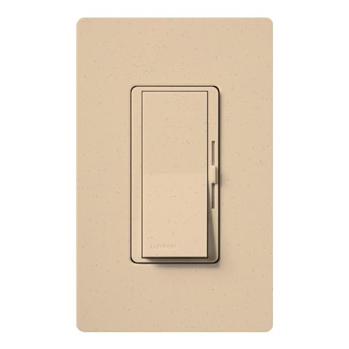 Lutron Electronics DVSC-10P-DS 1000 W 120 Volt Desert Stone 1-Pole Incandescent/Halogen Paddle Switch Preset Dimmer