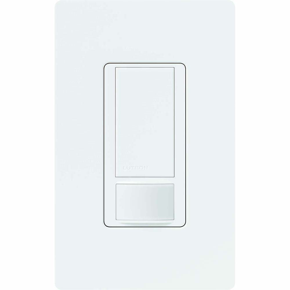 Lutron Electronics MS-OPS6M2U-DV-WH 120 to 277 VAC 6 Amp White Incandescent/Halogen Occupancy Sensing Switch