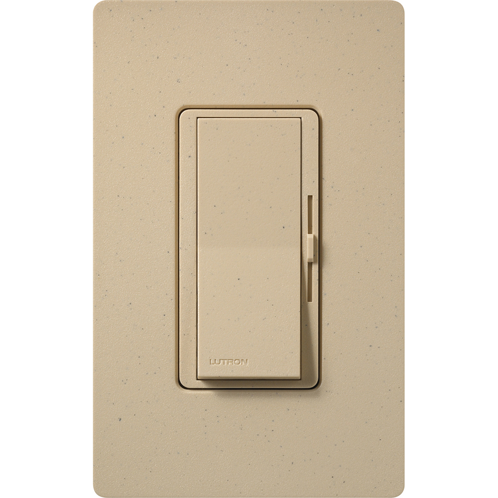 Lutron Electronics DVSCLV-603P-DS 450 W 120 Volt Desert Stone 3-Way Magnetic Low Voltage Paddle Switch Preset Dimmer