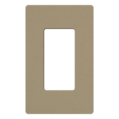 Lutron Electronics SC-1-MS 1-Gang MochaStone Polycarbonate Designer Wallplate