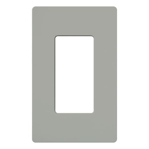 Lutron Electronics CW-1-GR 1-Gang 1-Dimmer Gray Polycarbonate Standard Designer Wallplate