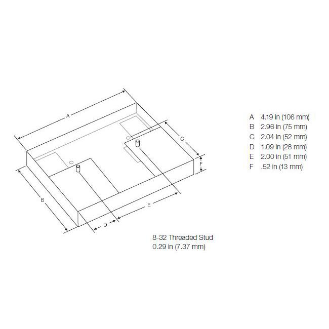 Lutron Electronics CFL-JBA-FAB 4.19 x 2.96 Inch T4 Ballast Adapter Plate Kit