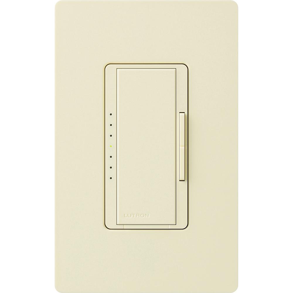 Lutron Electronics MALV-1000-AL 800 W 120 Volt Almond 1-Pole/Multi-Location Magnetic Low Voltage Digital Fade Dimmer