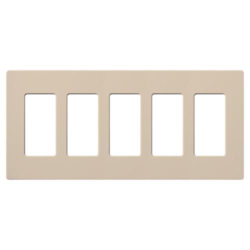 Lutron Electronics SC-5-TP 5-Gang Taupe Polycarbonate Designer Wallplate