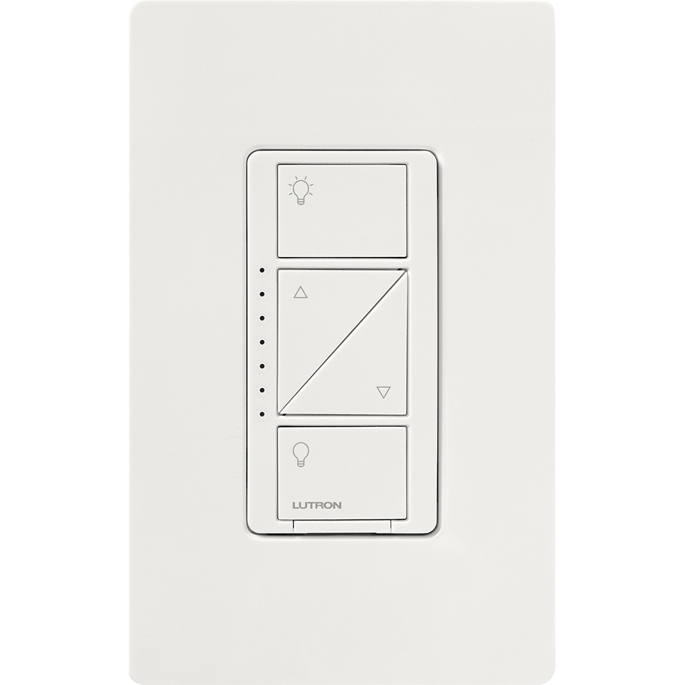 Lutron PD-10NXD-WH 1000 W 120 Volt White 1-Pole/Multi-Location Dimmer