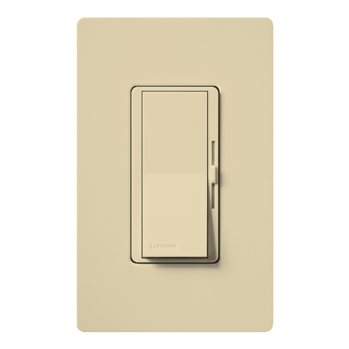 Lutron Electronics DVSTV-IV Load 120 to 277 Volt Ivory 1-Pole/3-Way Wall Box Control Preset Dimmer