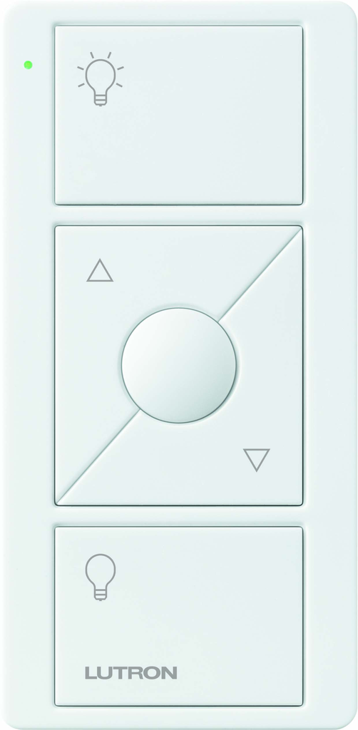 Lutron Electronics PJ2-3BRL-WH-L01R Pico 3-Button with Raise/Lower White Remote Control