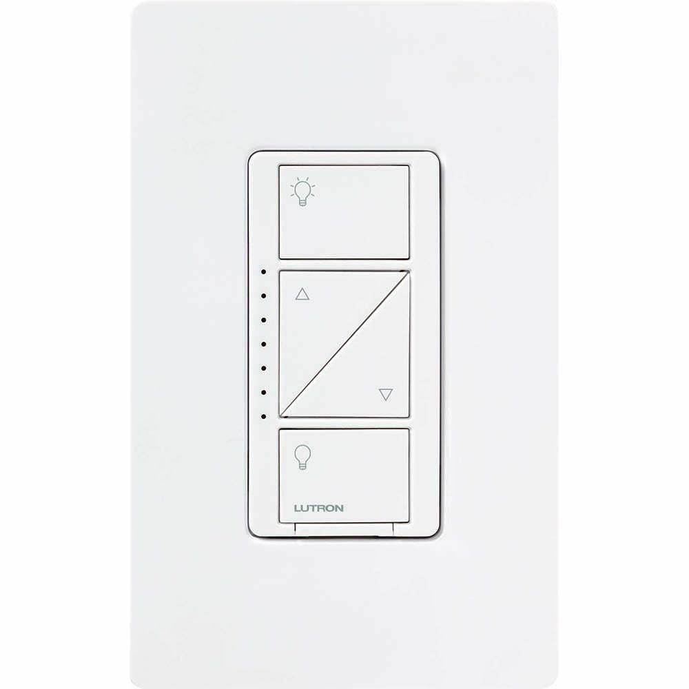 Lutron Electronics PD-6WCL-WH 600 W 120 Volt White 1-Pole/Multi-Location Lamp Dimmer